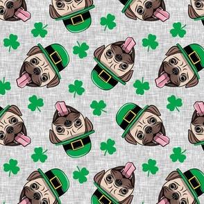 Patty's Pug - St Patricks Day Pugs - Grey toss - LAD19