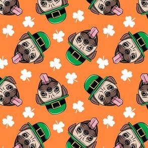 Patty's Pug - St Patricks Day Pugs - orange toss - LAD19