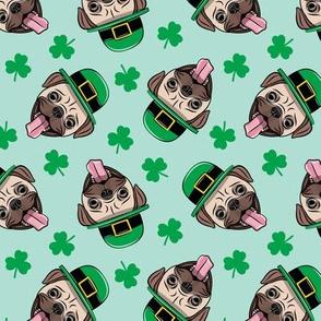 Patty's Pug - St Patricks Day Pugs - mint toss - LAD19