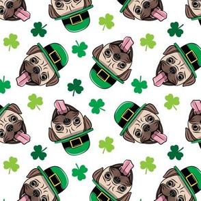 Patty's Pug - St Patricks Day Pugs - toss - LAD19