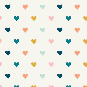 hearts  - multi (blue, pink, gold)  - valentines day - love - LAD19