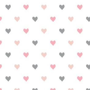 hearts  - multi (pink & grey) - valentines day - love - LAD19