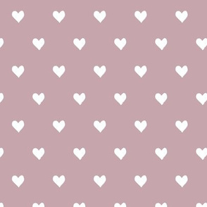 hearts  - mauve - valentines day - love - LAD19