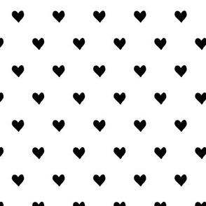 hearts  - black and white - valentines day - love - LAD19