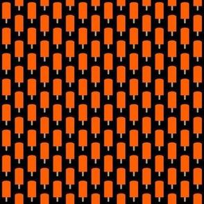 Small Orange Ice Pops on Black
