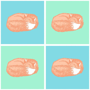 Sleeping Fox Pastel (Large 12 inch size)