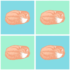 Sleeping Fox Pastel (Medium 8 inch size)