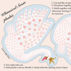 Whimsical Swan Plushie