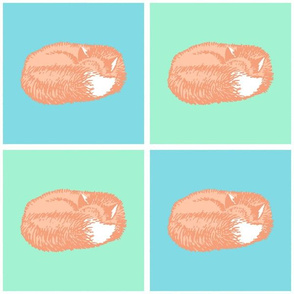 Sleeping Fox Pastel (Medium 6 inch size)