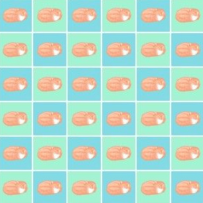 Sleeping Fox Pastel (Mini Small 1 inch size)