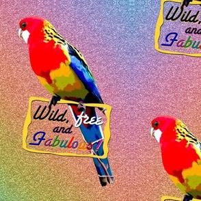 Wild, free, and Fabulous! (Rainbow Glitter Aussie Rosella)