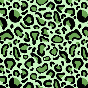 LEOPARD green PRINT small scale