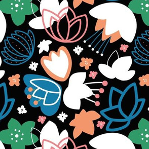 Zuzanna colorful floral pattern