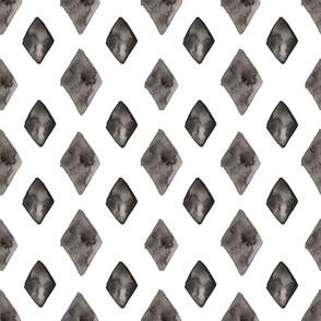 Watercolour Diamonds Grey (Larger Scale)