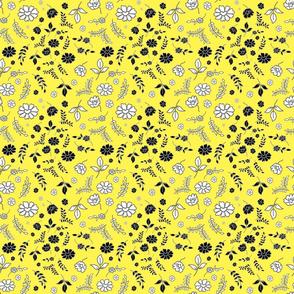 Mimi's Fleurs de Chintz #1 - lemon yellow, small