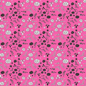 Mimi's Fleurs de Chintz #1 - candy pink, small