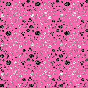 Mimi's Fleurs de Chintz #2 - candy pink, small
