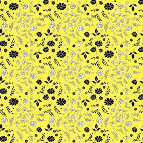 Mimi's Fleurs de Chintz #2 - lemon yellow, small