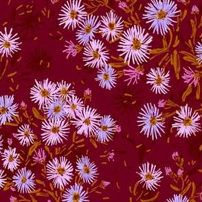 "Tatarian Asters Meadow (burgundy) 18"""