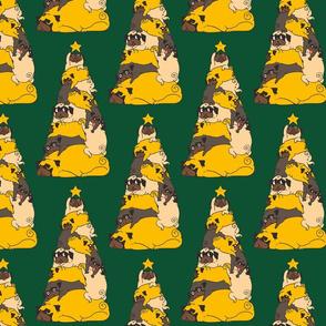 Christmas Tree Pugs_8x8