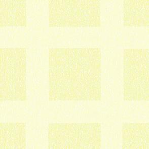 Pale Lemon Wool Tweed Grid