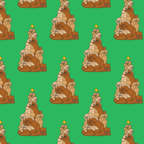 Christmas Tree Poodle_8x8