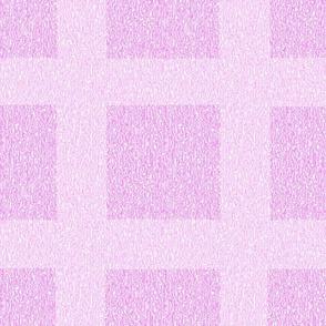 Pale Pink Wool Tweed Grid