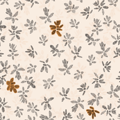 Minimal Botanical Pattern on Warm Cream