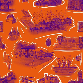 Orange and Purple Tigertown small