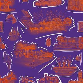 Purple and OrangeTigertown small