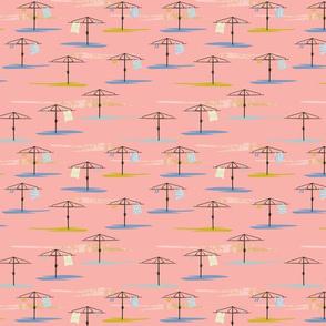 Hills Hoist on pink