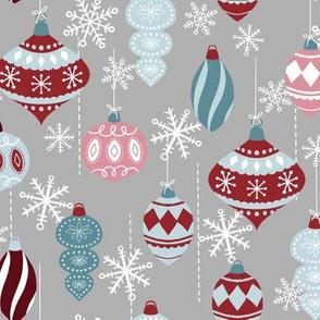 Whimsical Christmas Balls-Red