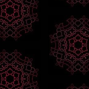 Elegant Red Pink Mandala Design