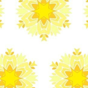 Yellow Sun Star Mandala Design