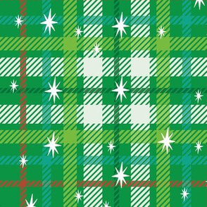 Christmas plaid and stars