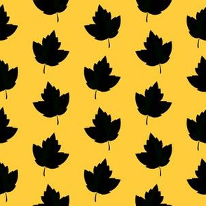 Black & Yellow Leaf Silhouettes (Small Size)