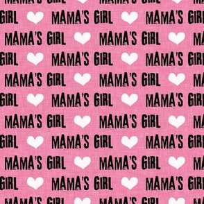 Mama's Girl - valentines day fabric - dark pink - LAD19BS