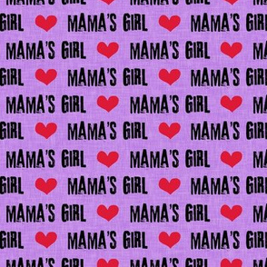 Mama's Girl - valentines day fabric - purple - LAD19BS