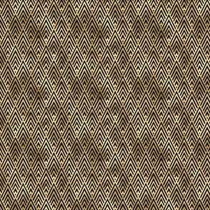 Small Diamond Chevrons in Black and Gold Vintage Faux Foil Art Deco Vintage Foil Pattern