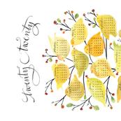 2020 birds and berries tea towel calendar