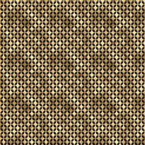 Small 4 Leaf Quatrefoils in Black and Gold Vintage Faux Foil Art Deco Vintage Foil Pattern