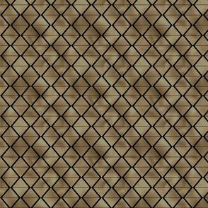 Small Lined Diamonds in Black and Gold Vintage Faux Foil Art Deco Vintage Foil Pattern