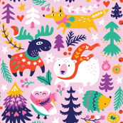 cozy winter day_pink