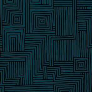 Mudcloth maze stripes minimal Scandinavian grid trend abstract geometric labyrinth navy black winter