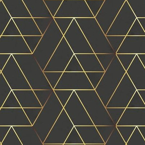 hexagon_black_gold