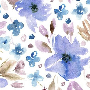 Sweet spring • watercolor flowers