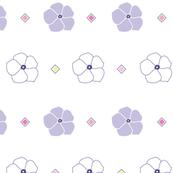 White light purple floral
