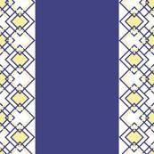 Yellow diamond lattice on blue