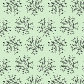 Christmas Tree Snowflakes- Mint