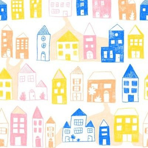 Houses in rows